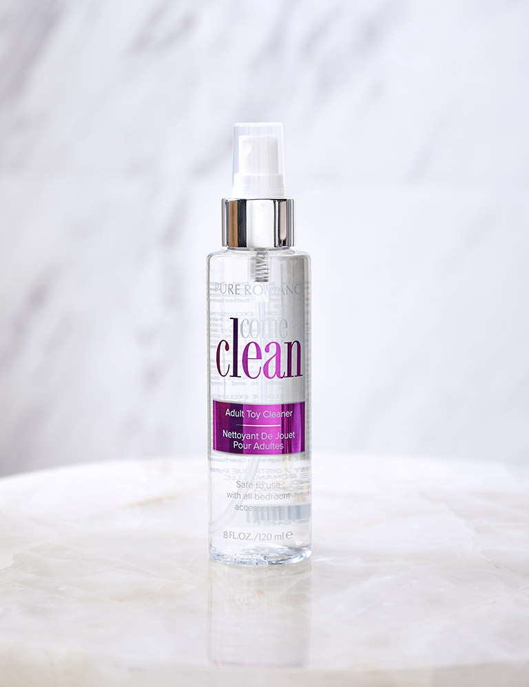 Pure Romance Come Clean toy cleaner.
