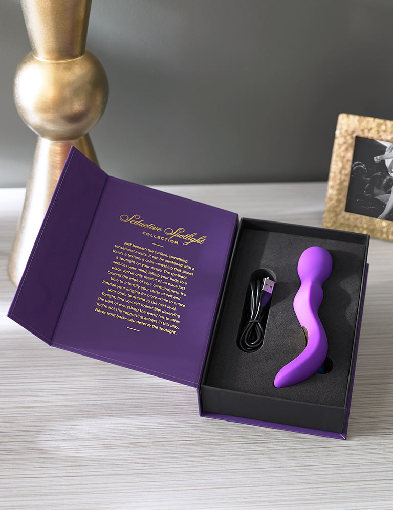 Opening Act by Pure Romance Clitoral Vibrator Shown IN BOX.